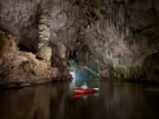 Kayaking a section of nearly 2km deep in Phong Nha