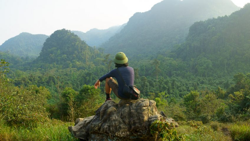 Epic views of the jungle during a section of the trek